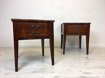 Stunning Pair Of French Marble Top Bedside Cabinet
