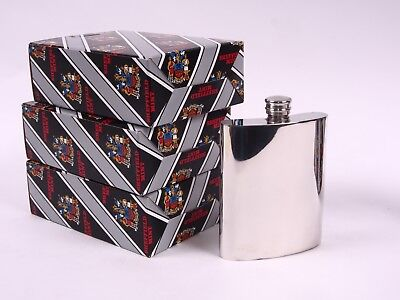 Sheffield Mint Pewter pocket Flask Still in origial Box NEW Never used