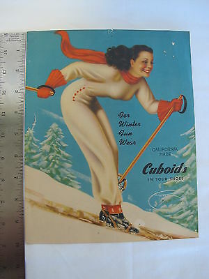 1940s Pin Up Print Ads Advertising Cuboids In Your Shoes Sexy Inocent California