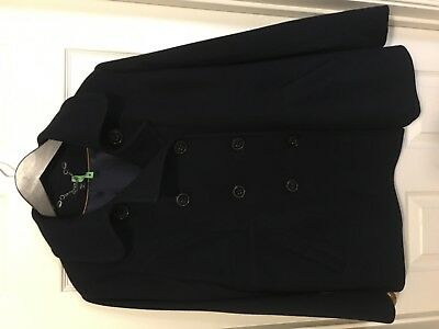 A Pea in the Pod Maternity Navy Wool Blend Pea Coat Size M Excellent Condition