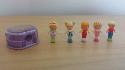Blue Bird Toys Polly Pocket figures for 1990 Drawing Set and Pencil Case