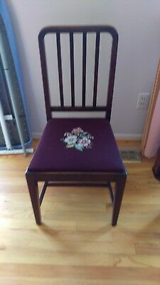 Pair of Mahogany Boudoir Chairs Made in Toronto, Ontario, circa 1919