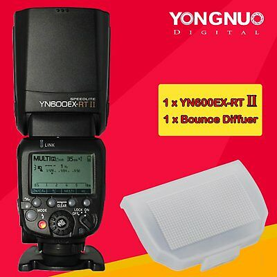YONGNUO YN600EX-RT II YN600ex Wireless Speedlite TTL Flash With Bounce Diffuser