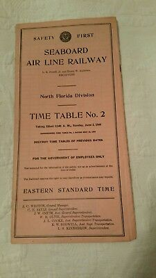 Seaboard Air Line Railroad employee timetable - North Florida div.  #2  6/2/1946