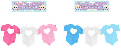 Baby Shower Blue/Pink, Boys Girls Baby Grow Garland/Bunting, Baby Shower Game