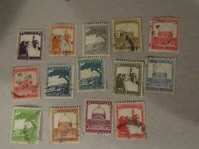 1927 Used Stamps From Palestine