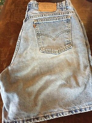 Vintage USA Levi's 951 Orange Tab Relaxed Fit Blue Jeans Shorts Sz. 16