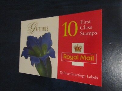 1997 FLOWER PAINTING BOOKLET COMPLETE WITH 10 x 1st CLASS STAMPS