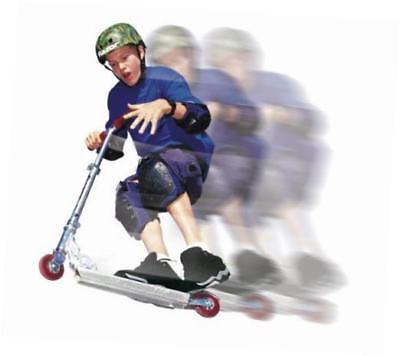 a kick scooter, clear/black