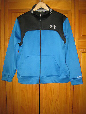 Under Armour Storm Cold Gear zip up sweatshirt YLG blue soccer football