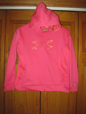 Under Armour Storm Cold Gear sweatshirt hoodie girls YLG L pink running gym