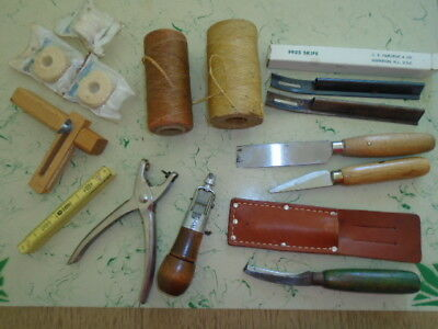 Nice Vintage Lot of Leatherwork Tools and Accessories Nice Used Condition