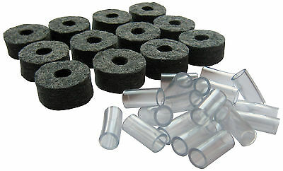 Cymbal Stand Felts & 8mm or 6mm Sleeves - Pack of 6&10 or 12&20 (for drum kit)