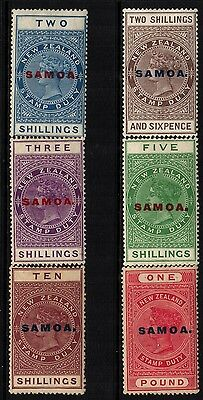 ~ SAMOA, MINT, #SG127-32, OG HR, PERF 14.5x14, OVERALL GREAT GROUP