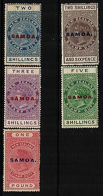 ~ SAMOA, MINT, #SC127-30, 32, OG LH/HR, PERF 14.5x14, EXCELLENT GROUP