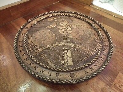 Islay Single Malt Bunnahabhain Scotch Whisky Wooden Coin Tray / Stand