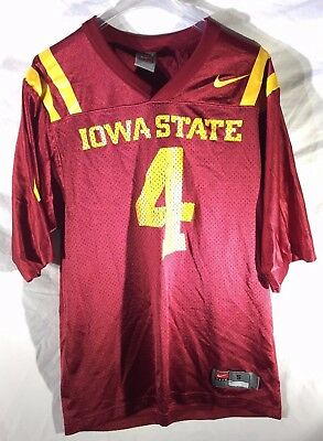 f9a9fca7f Iowa State Cyclones NCAA College Football Red #4 Nike Jersey Men's Small