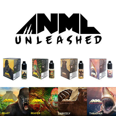 ANML Unleashed 60ml E-Liquid Premium für E-Zigaretten 6 x 10ml - Nikotin 0/3/6mg