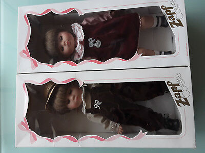 """Paired Zapf """"Colette"""" dolls in original boxes, Brother and Sister."""