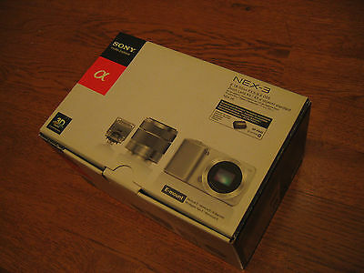 Sony a (alpha) NEX-3 14.2 MP Digital Camera - Silver (Kit w/ E 18-55mm OSS Lens)