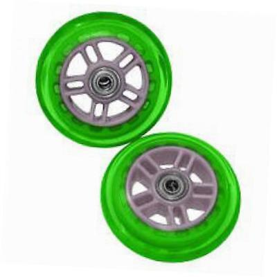 134932-gr scooter replacement wheels set with bearings-green