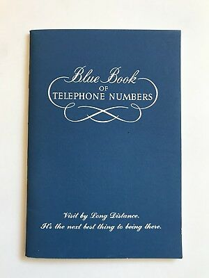 Vintage Pacific Telephone Blue Book of Telephone Numbers - Unused & Perfect