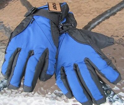 Youth Large Winter Gloves Waterproof Thermosoft Insulation Ski Snow Blue Kids