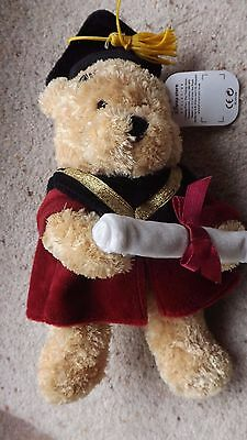 BNWT RARE DISNEY STORE WINNIE THE POOH ROYAL burgundy  GRADUATION GOWN MORTAR 8""