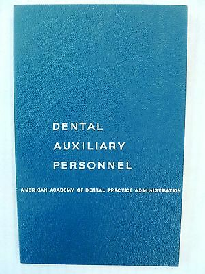 1959 Dental Dentistry Book DENTAL AUXILIARY PERSONNEL