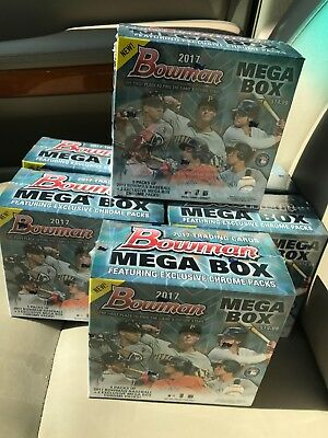 2017 Bowman Baseball Mega Box Factory Sealed Chrome Lot Of 6 Boxes Super Hot