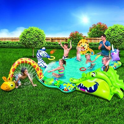 NEW! Banzai Safari Adventure Inflatable Pool. Includes Slide and other games.