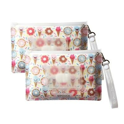 WIPOUCH™ Donuts & Ice Cream Refillable Wet Wipes Pouch Set 2x WIPOUCH30 Express