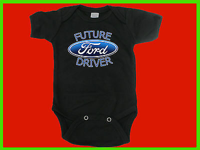 Ford Racing Baby Snap Suit. One Piece Romper Future Ford Driver
