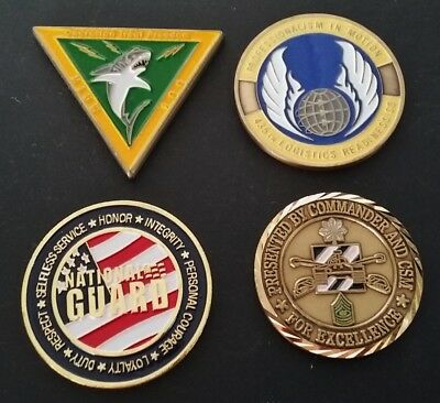 4 Coins Challenge Coin lot set Collection Military NO DUPLICATES