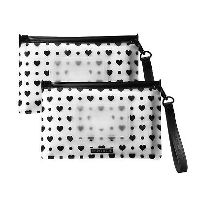 WIPOUCH™ Monochrome Hearts Refillable Wet Wipes Pouch Set of 2 WIPOUCH30 Express
