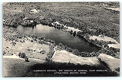 Postcard Boy Scouts of America Airview Camp Resolute Little Pond Bolton MA R01