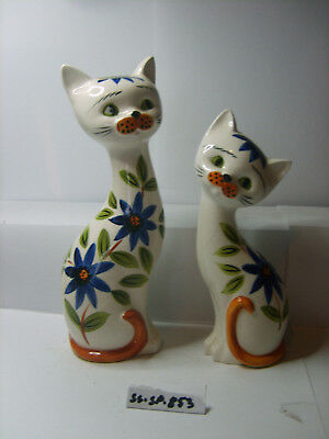 cats with flowers salt and pepper shakers