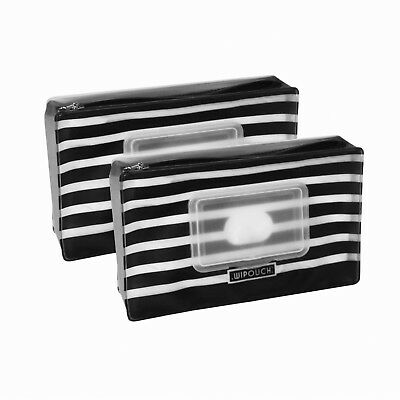 WIPOUCH™ Monochrome Stripes Refillable Wet Wipes Pouch 2pcs WIPOUCH60 Express