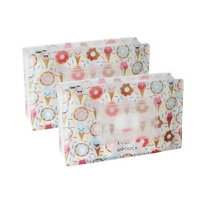WIPOUCH™ Donuts & Ice Cream Refillable Wet Wipes Pouch Set 2x WIPOUCH60 Express