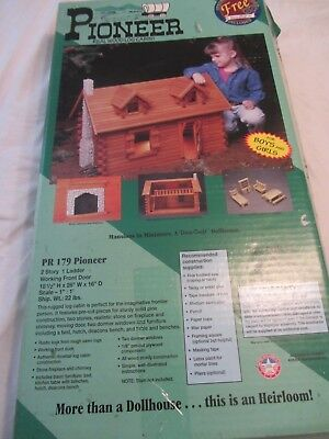 Vintage 1996 Dura-Craft Pioneer Pr-179 Wood Log Cabin Kit Doll House Usa