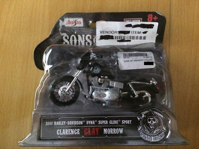 "New MAISTO Sons of anarchy Clarence ""CLAY"" Morrow Model bike FREE POSTAGE"