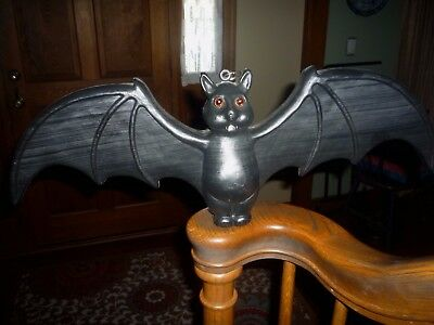 """UNION Halloween BLACK BAT Featherstone 22"""" Hanging Blow Mold NEXT DAY SHIPPING!"""