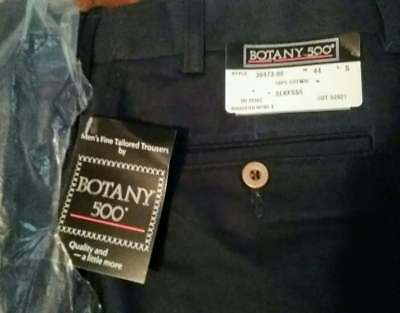 Botany 500 44 S Blue Cotton 39473-00 NEW WITH TAGS