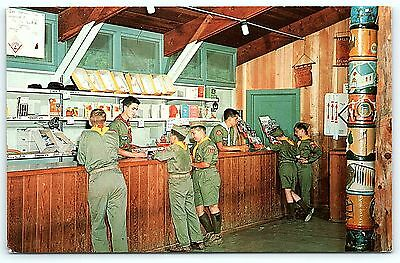 Postcard Boy Scouts America BSA St Louis Area Council Camping Trading Post R01
