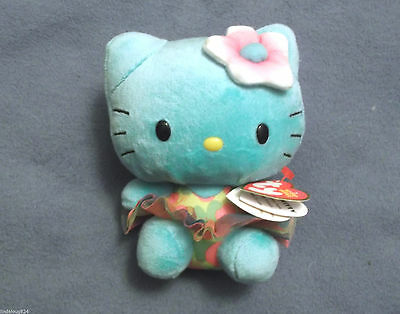 Hello Kitty Turquoise With Tutu Collectible Ty Beanie Baby Nwt 2014