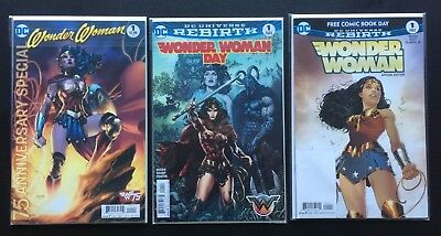 Wonder Woman 75th Anniversary Special 1 + FCBD and Special Edition Variant