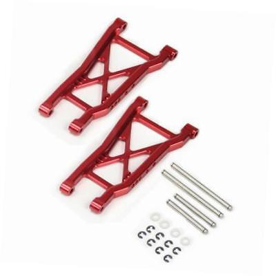atomik alloy rear lower arm 1:10 traxxas slash 2wd + other trx models - red