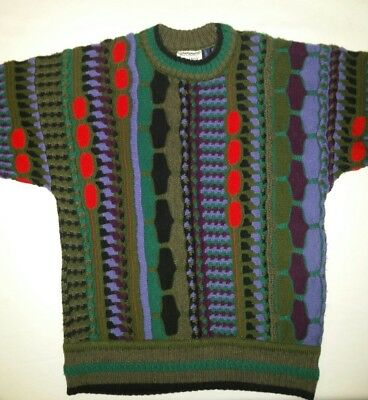 Mens Vintage Retro Pure Wool Jumper