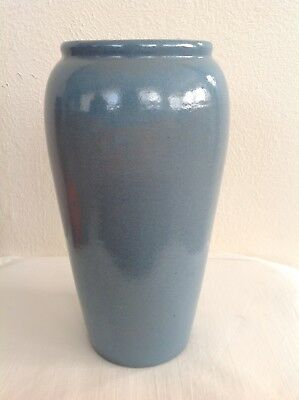 Antique Saturday Evening Girls, Paul Revere Pottery Large Satin Blue Vase