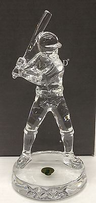 Waterford Crystal Baseball Player New in Box